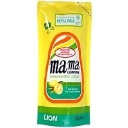 """Mama Lemon гель для мытья посуды и детских принадлежностей """"Лимон"""" концентрированный, сменная упаковка, 600 мл"""
