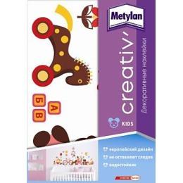 """Metylan creativ' декоративная наклейка """"Веселые животные"""", 33,5*47 см"""