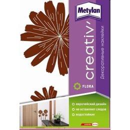 """Metylan creativ' декоративная наклейка """"Коричневые астры"""", 33,5*47 см"""