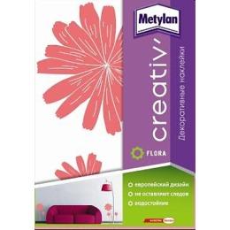 """Metylan creativ' декоративная наклейка """"Розовые астры"""", 33,5*47 см"""
