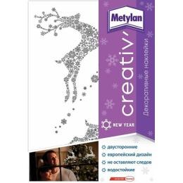 """Metylan creativ' декоративная наклейка """"Серебряные олени"""", 47х67 см"""