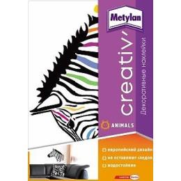 "Metylan creativ' декоративная наклейка ""Яркая зебра"", 47*67 см"