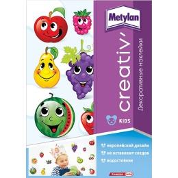 Metylan creativ' декоративная наклейка Веселые фрукты 33,5х47см