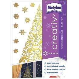 Metylan creativ' декоративная наклейка золотая ель 33,5х47см