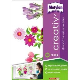 Metylan creativ' декоративная наклейка кашпо с цветами 33,5х47см
