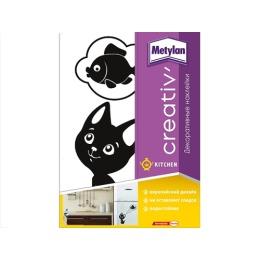 Metylan creativ' декоративная наклейка котенок - мечтатель 33,5х47см