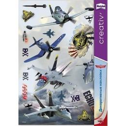 Metylan creativ' декоративная наклейка самолеты летучие монтировки 33,5х47см