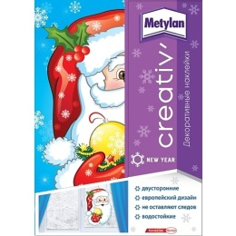 Metylan creativ' декоративная наклейка санта клаус 33,5х47см