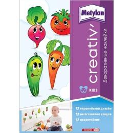 Metylan creativ' наклейка декоративная Веселые овощи 33,5х47см