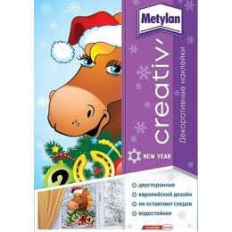 Metylan creativ' наклейка декоративная год лошади 33,5х47см