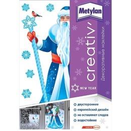 Metylan creativ' наклейка декоративная дед мороз 33,5х47см