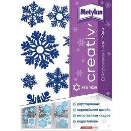 Metylan creativ' наклейка декоративная синие снежинки 24х33,5см