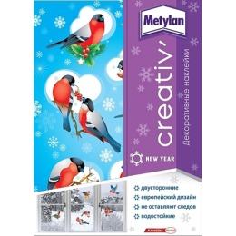 Metylan creativ' наклейка декоративная снегири 33,5х47см