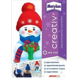 Metylan creativ' наклейка декоративная снеговик 33,5х47см