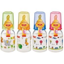 Nuk бутылочка стеклянная, 125 мл + соска с вентиляцией из латекса, размер 1