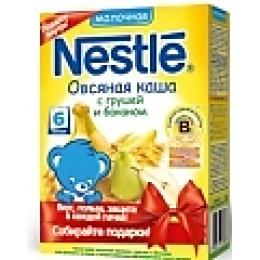 "Nestle каша молочная ""Овсяная"" груша, банан, бифидобактерии, 250 г"