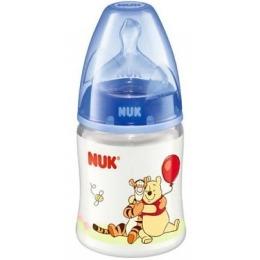"""Nuk бутылочка """"Дисней"""", пластик, 150 мл + соска с вентиляцией из силикона, размер 1"""