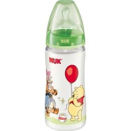 """Nuk бутылочка """"Дисней"""", пластик, 300 мл + соска с вентиляцией из силикон, размер 1"""