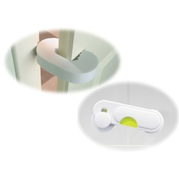 Мир детства набор фиксатор для двери и блокиратор для стеклянных дверей