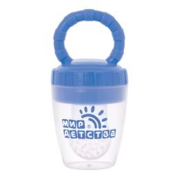 Мир детства контейнер для прикорма силиконовый, голубой