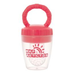 Мир детства контейнер для прикорма силиконовый, розовый