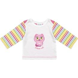 """Курносики футболка с длинным рукавом """"Розовая кошечка"""" рост 62 см"""
