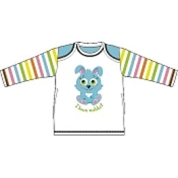 """Курносики футболка с длинным рукавом """"Голубой кролик"""" рост 62 см"""