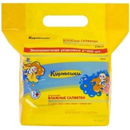 Курносики салфетки влажные для малышей, 2*100 шт