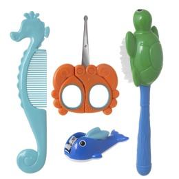 """Курносики набор детский """"Большой океан"""" расческа, щетка, безопасные ножницы, щипчики"""