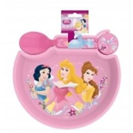 """Disney миска """"Принцессы"""" сложкой, на подставке"""
