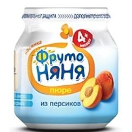 """Фруто Няня пюре """"Персик"""" натуральное, 100 г"""