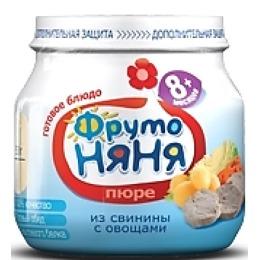 "Фруто Няня пюре ""Свинина с овощами"",  100 г"