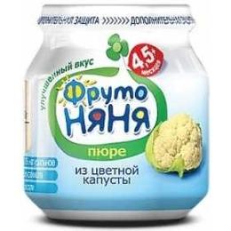 "Фруто Няня пюре ""Цветная капуста"" с 4.5 месяцев, 80 г"