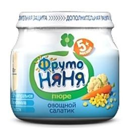"""Фруто Няня пюре """"Цветная капуста, кукуруза, морковь"""" с 5 месяцев, 80 г"""