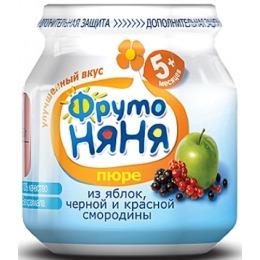 """Фруто Няня пюре """"Яблоко, черная и красная смородины"""" с 5 месяцев, 100 г"""