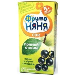 """Фруто Няня сок """"Яблоко и черная смородина"""" с 5 месяцев, 200 мл"""