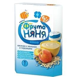 """Фруто Няня каша """"Овсяная с молоком и персиком"""", с 5 месяцев, 200 г"""