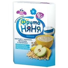 """Фруто Няня каша """"Овсяная с молоком, яблоком и бананом"""" с 6 месяцев, 200 г"""