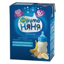 """Фруто Няня кашка молочная """"Овсяная с бананом и пребиотиком"""" с 6 месяцев, 200 г"""