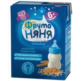 """Фруто Няня кашка молочная """"Пшеничная"""" с пребиотиком, с 6 месяцев, 200 г"""