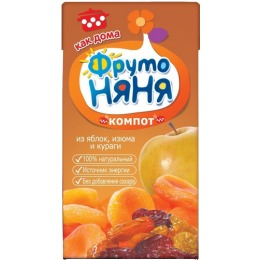 "Фруто Няня компот ""Яблоко, изюм, курага"" с 6 месяцев, 200 мл"