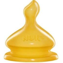 """Nuk соска """"First choice"""" с вентиляцией, из латекса со средним отверстием для молока, размер 1 М"""