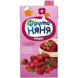 """Фруто Няня морс """"Клюква и малина"""" с 5 месяцев, 500 мл"""