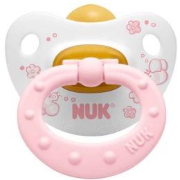 """Nuk соска-пустышка """"Baby rose"""" для сна, с кольцом, из латекса, размер 2"""