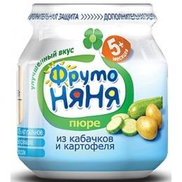 """Фруто Няня пюре """"Кабачкок и картофель"""" с 5 месяцев, 80 г"""