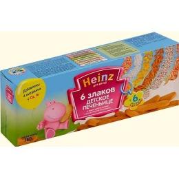 """Heinz печенье  """"6 злаков"""" с 6 месяцев, 180 г"""