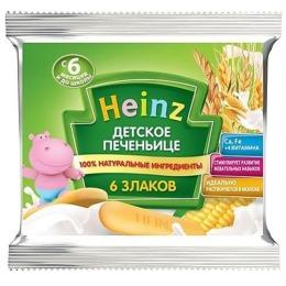"""Heinz печенье """"6 злаков"""" с 6 месяцев, 60 г"""