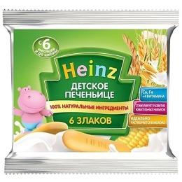 """Heinz печенье """"Банан и яблоко""""  с 6 месяцев, 60 г"""