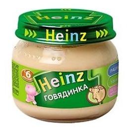 """Heinz пюре """"Говядинка"""" с 6 месяцев, 80 г"""