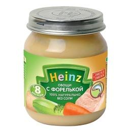 """Heinz пюре """"Овощи с форелькой"""" с 8 месяцев, 120 г"""